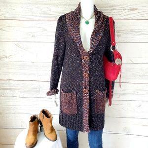 Anthropologie Curio gorgeous textured sweater coat